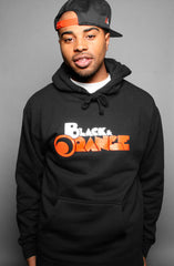 Black & Orange (Men's Black Hoody)