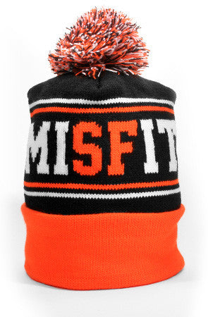 Misfit (Black/Orange Beanie)