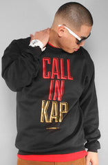 Colin Kaepernick X Adapt :: Call In Kap (Men's Black Crewneck Sweatshirt)