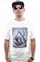 Cukui X Adapt :: Shark Sketch (Men's White Tee)