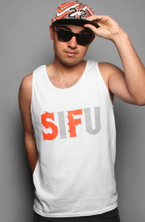SIFU (Men's White/Orange Tank)