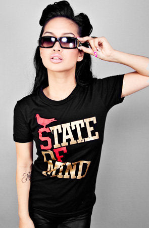State of Mind (Women's Black/Gold Tee)