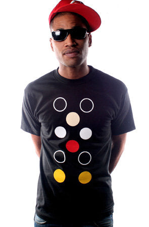 Dot Matrix (Men's Black Tee)