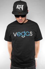 Vegas (Men's Black/Blue Tee)