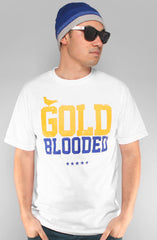 Gold Blooded (Men's White/Royal Tee)