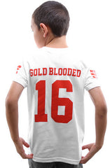 Gold Blooded Legends :: 16 (Youth Unisex White Tee)
