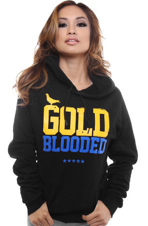 GOLD BLOODED Women's Black/Royal Hoody