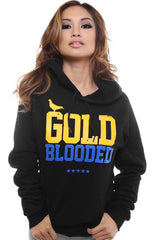 Gold Blooded (Women's Black/Royal Hoody)