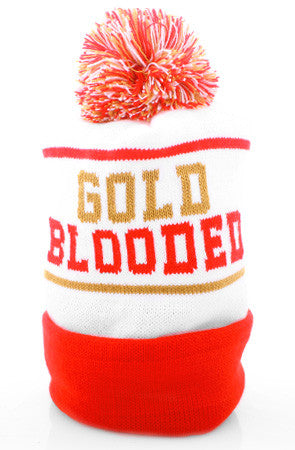 Gold Blooded (White Beanie)