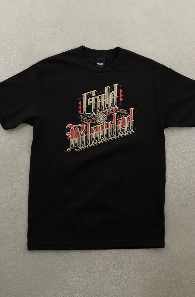 Cukui X Adapt :: Gold Blooded Roots (Men's Black/Tee)