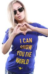 I Can Show You The World (Women's Royal V-Neck)