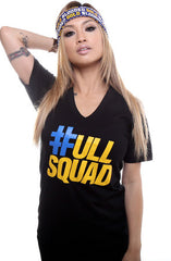 Full Squad (Women's Black V-Neck)