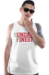 Sunday's Finest (Men's White/Gold Tank)