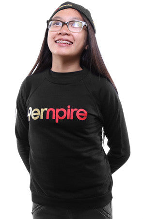 Empire (Youth Unisex Black Crewneck Sweatshirt)
