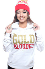 GOLD BLOODED Women's White/Gold Hoody