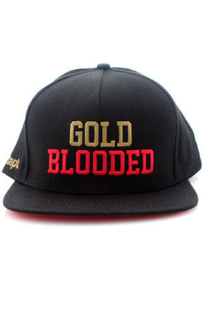 Gold Blooded (Black Snapback Cap)