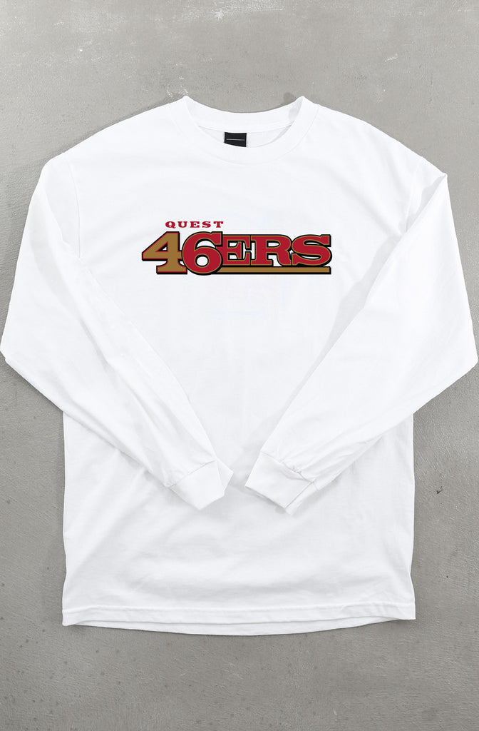 Quest 46 (Men's White Long Sleeve Tee)