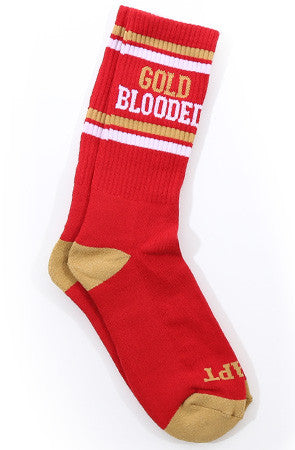 Gold Blooded (Red Socks)