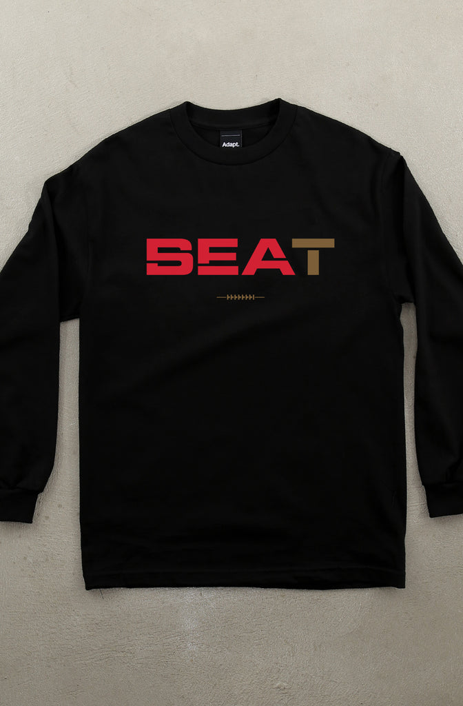 Beat SEA (Men's Black Long Sleeve Tee)