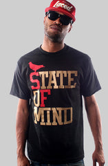 State of Mind (Men's Black/Red/Gold Tee)