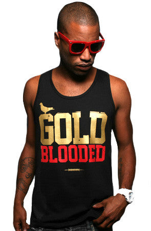 Gold Blooded (Men's Black/Red Tank)