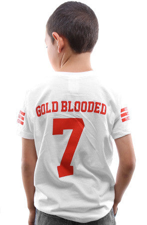 Gold Blooded Legends :: 7 (Youth Unisex White Tee)