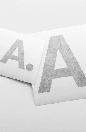 A-Type Vinyl (Black Sticker 2-Pack)