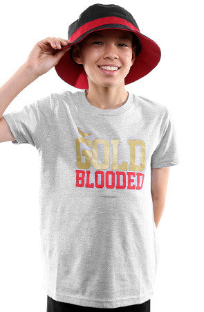 Gold Blooded (Youth Unisex Heather Tee)