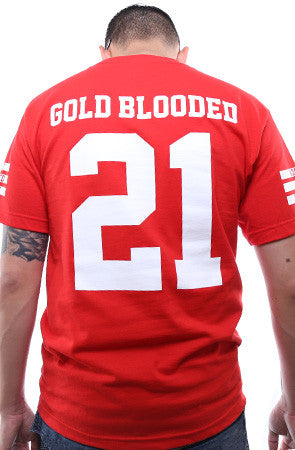 Gold Blooded Legends :: 21 (Men's Red Tee)