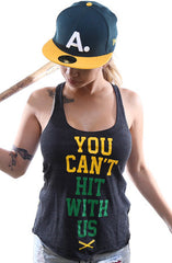 You Can't Hit (Women's Black/Green Racerback Tank)