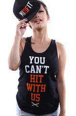 You Can't Hit (Women's Black/Orange Tank Top)