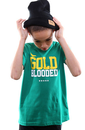 Gold Blooded (Youth Unisex Green Tee)