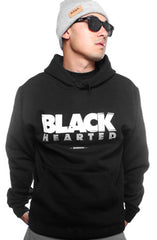 Black Hearted (Men's Black Hoody)