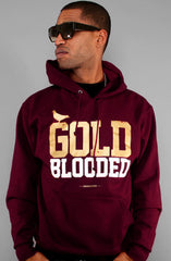 GOLD BLOODED Men's Dark Maroon/Gold Hoody