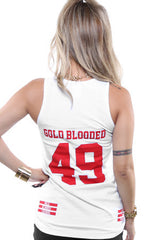 Gold Blooded Legends :: 49 (Women's White Tank Top)