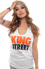 King Street (Women's White Tank Top)