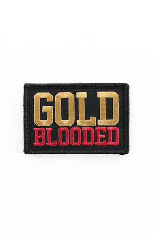"Gold Blooded (Velcro Patch 2"" x 3"")"