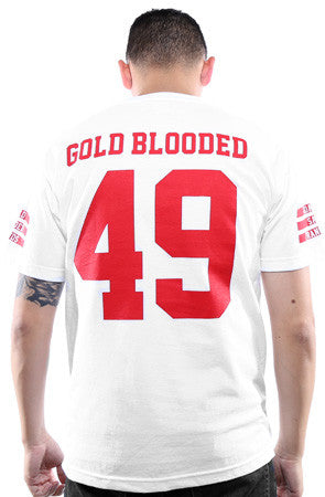 Gold Blooded Legends :: 49 (Men's White Tee)