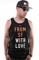 Fully Laced X Adapt :: From SF With Love (Men's Black/Orange Tank)