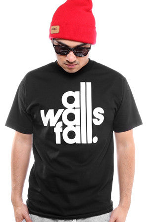 All Walls Fall (Men's Black Tee)