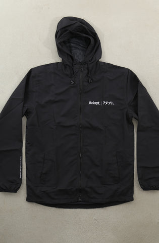 Kineda (Men's Black Windbreaker)