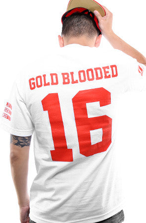 Gold Blooded Legends :: 16 (Men's White Tee)