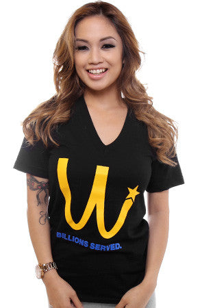 Billions Served (Women's Black V-Neck)