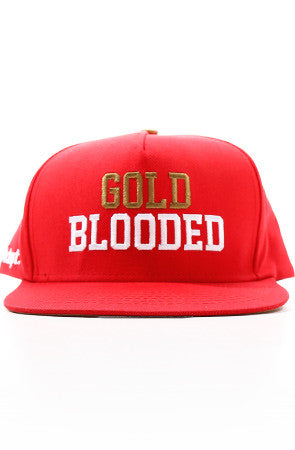 Gold Blooded (Red Snapback Cap)