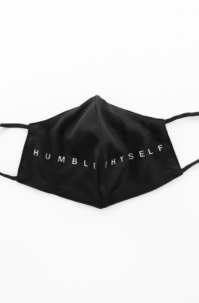 Humble Thyself (Black Split Face Mask)