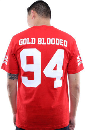 Gold Blooded Legends :: 94 (Men's Red Tee)