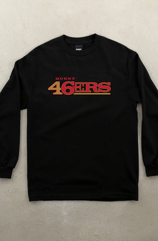 Quest 46 (Men's Black Long Sleeve Tee)