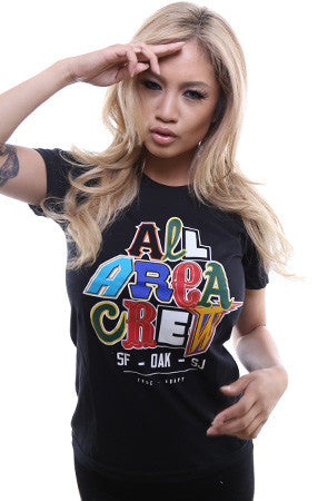 TRUE X Adapt :: All Area Crew (Women's Black Tee)