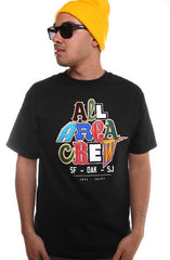 True X Adapt :: All Area Crew (Men's Black Tee)