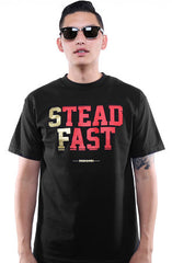 Steadfast (Men's Black/Gold Tee)